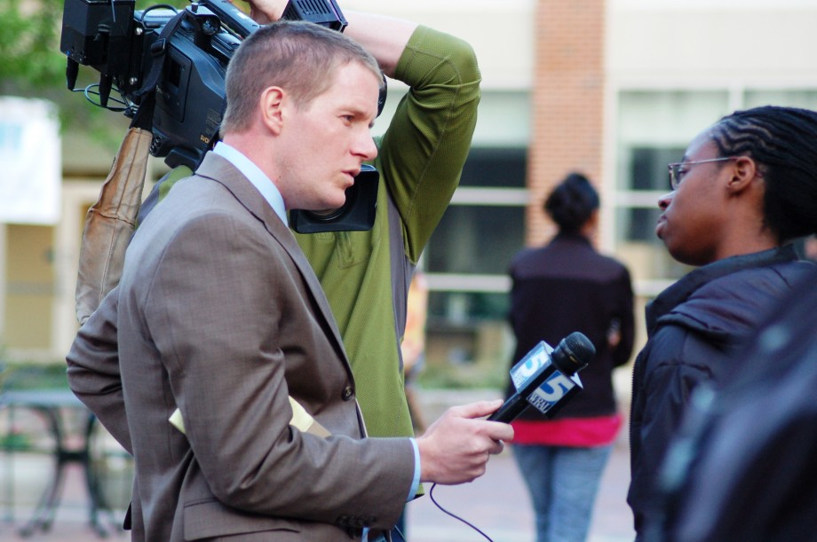 TV reporter - dealing with difficult questions