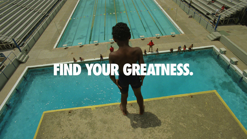 "Nike's 'Find Your Greatness"" spot"
