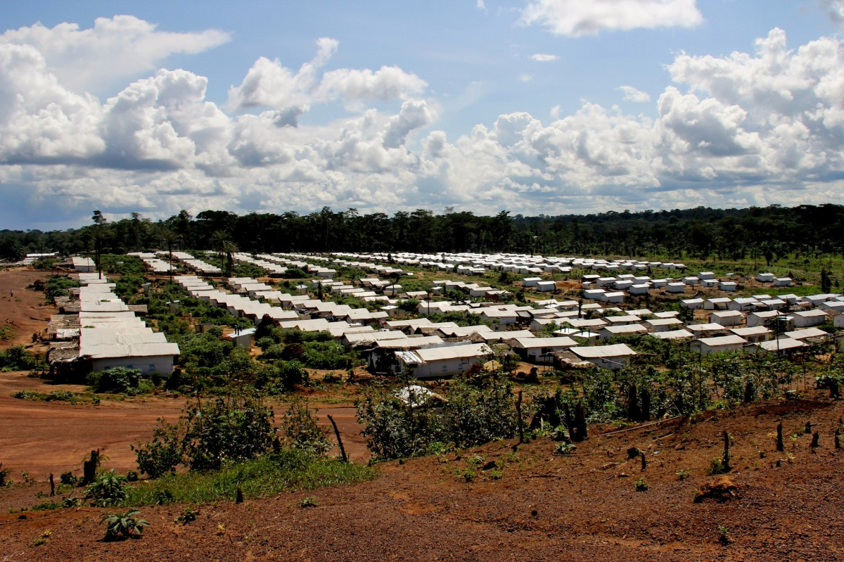 Refugee camp in Cote d'Ivoire