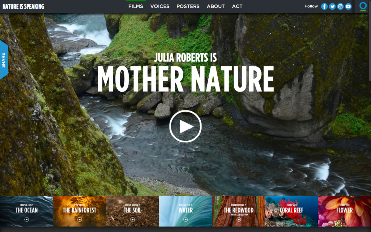 Mother Nature ad — nature and people